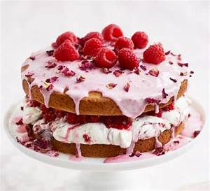 Rosewater & raspberry sponge cake recipe BBC Good Food