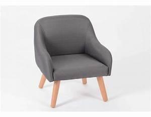 Fauteuil Chaise Scandinave : fauteuil enfant gris style scandinave ~ Melissatoandfro.com Idées de Décoration