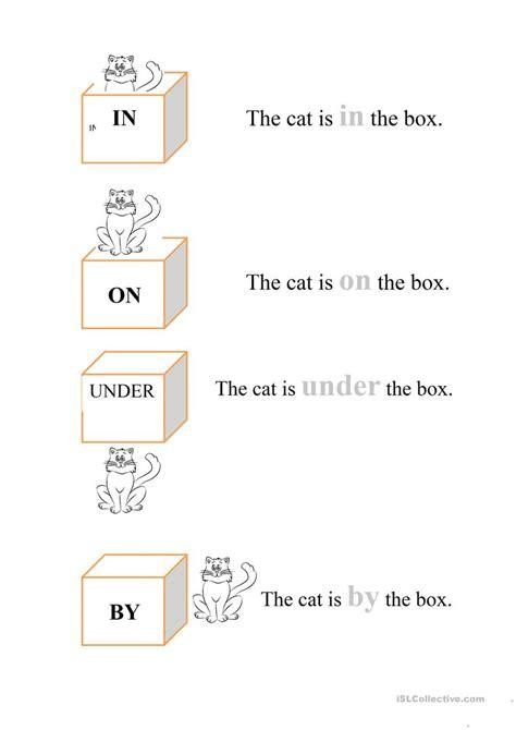 in on worksheets in on by worksheet free esl printable worksheets