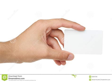 Credit Card With Empty Space Hand Holding Stock Image