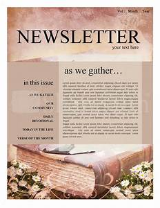 15 free church newsletter templates ms word publisher for Free christian newsletter templates