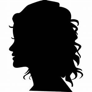 Woman silhouette head side view Icons | Free Download