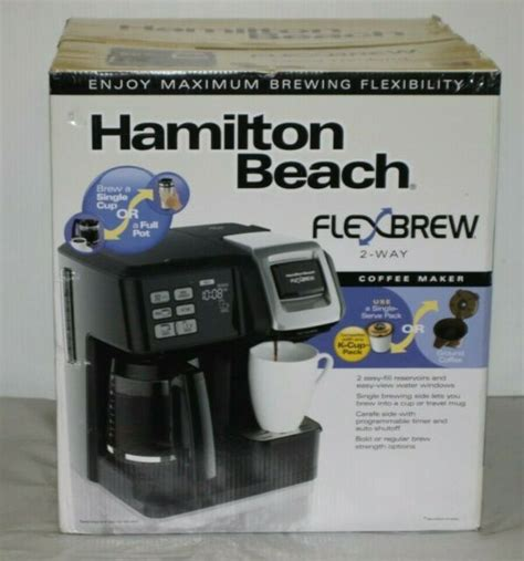 You have to go through the dispensing valve and press it. Hamilton Beach Flexbrew 2-Way 49954 Coffee Maker - Black for sale online | eBay