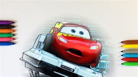 Cars 3 Lightning McQueen Testing Coloring Pages For