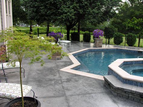colored concrete pool deck ideas pool design pool ideas