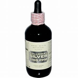 Amino Acid & Botanical Supply, Colloidal Silver, 1100 ppm ...