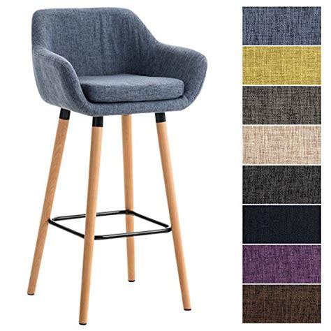 chaise de bar 4 pieds clp tabouret de bar grant en tissu chaise de bar à 4