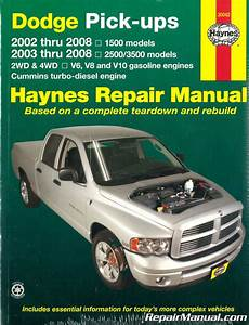 Dodge Ram Repair Manual 1500 2500 3500 Pickup Truck Haynes