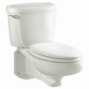 Glenwall Pressure Assisted Wall-Mounted Toilet - American