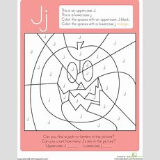 Color By Letter Capital And Lowercase J  I  Lettering, School Worksheets, Lowercase A