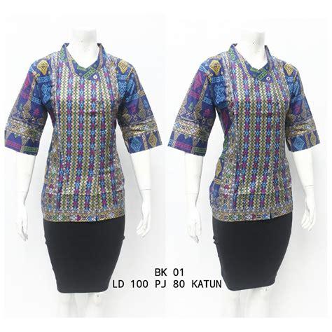jual blus batik kantoran marissa baju atasan batik wanita