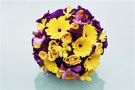 yellow and purple wedding flowers wedding flowers yellow and purple