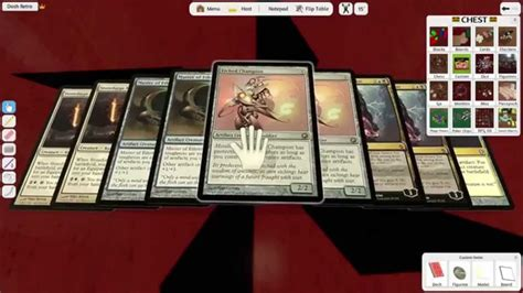 mtg deck builder simulator how to build a magic deck in tabletop simulator