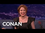 Ellie Kemper Took Up Smoking To Seem Cool - CONAN on TBS ...