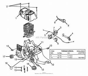 Homelite 45cc 18 U0026quot  Chain Saw Ut-10946-d Parts Diagram For Engine Housing - Fuel Tank