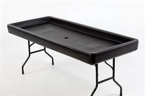 fill and chill table fill n chill party table black ancaster rental centre in