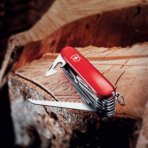 victorinox swiss army swisschamp pocket knife red cutlery