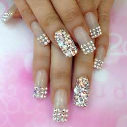 Bling nails see more about nail arts wedding and