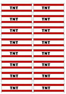 Tnt Minecraft Party Printable  Tnt Party Poppers   Free