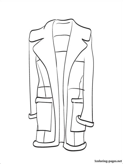 sheepskin coat coloring page coloring pages