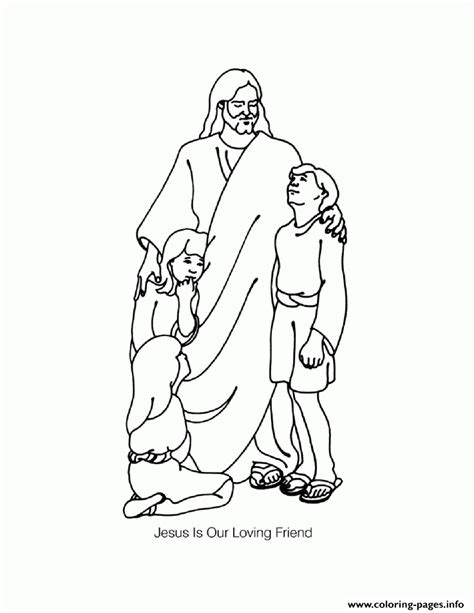 jesus  childrens coloring pages printable