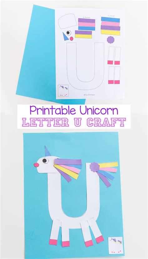 printable letter u craft unicorn with 489 | printable letter u craft unicorn