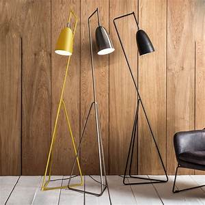 ochre floor lamp by the forest co notonthehighstreetcom With forest led floor lamp