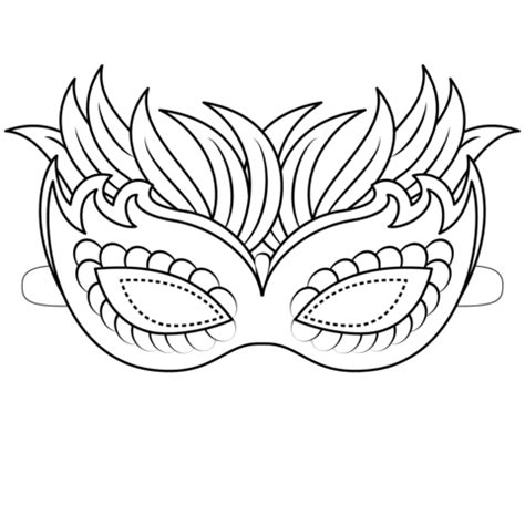 Coloring Mask by Venetian Mask Coloring Page Free Printable Coloring Pages