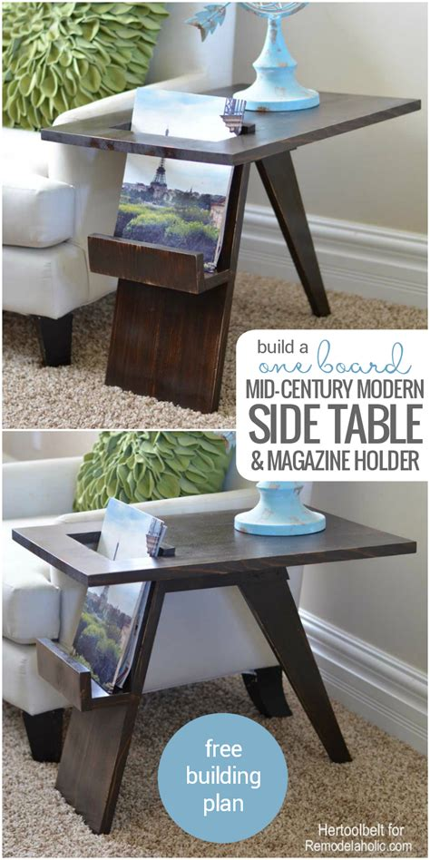 table physique remodelaholic build a diy mid century modern side table