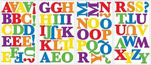 numbers alphabet wall stickers peel and stick With stick on decals letters