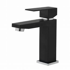 Mitigeur Noir Salle De Bain : mitigeur de lavabo vente de mitigeurs coloris noir en laiton ~ Edinachiropracticcenter.com Idées de Décoration