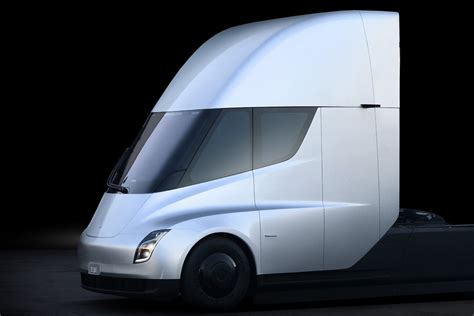 tesla truck tesla s electric semi truck elon musk unveils his new