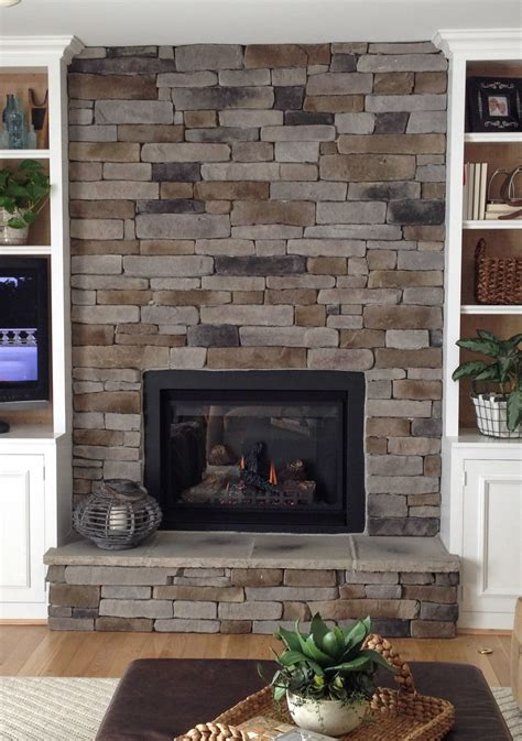 Stone Veneer Diy Fireplace Diy Do It Your Self