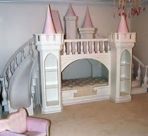 girls bunk beds with slide princess castle loft bed by