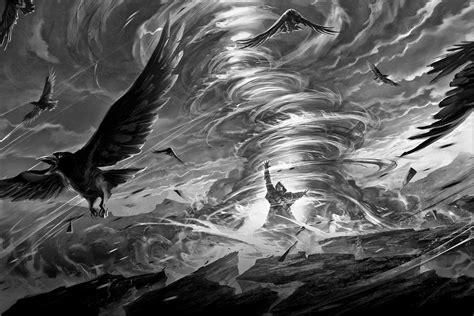 Permalink to Fantasy Raven Background