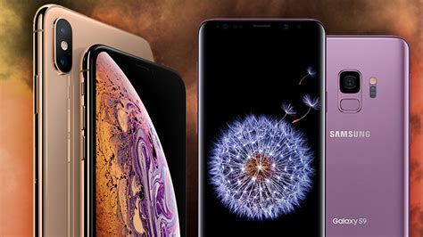 apple iphone xs xs max vs galaxy s9 s9 smartphone