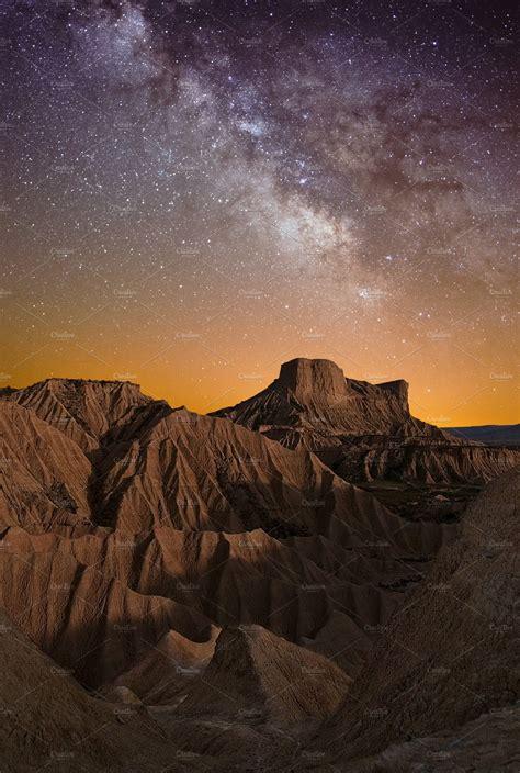 Desert Night Stock Photo Containing Night And Sky High