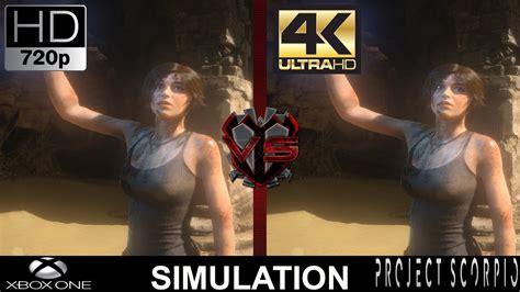 720p Vs 4k Gaming Xbox One Vs Project Scorpio Simulation