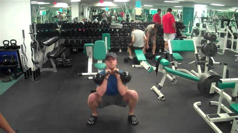 rack front kettlebell position squats