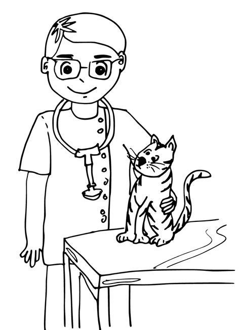 vet coloring pages getcoloringpagescom