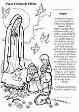 Fatima Lady Catholic Coloring Activities Crafts Prayer Pages sketch template