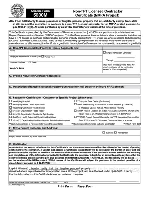 6 arizona 5000 forms and templates free to in pdf