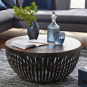 Couchtisch Rund Holz Massiv : finebuy couchtisch nishu 70cm tisch holz massiv metall wohnzimmertisch sofatisch ebay ~ Orissabook.com Haus und Dekorationen