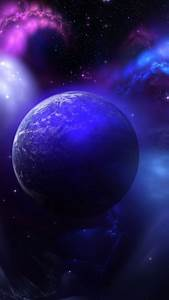 Space blue purple wallpaper sc SmartPhone