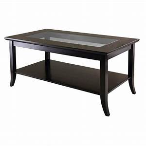 Amazon com: Winsome Genoa Rectangular Coffee Table with