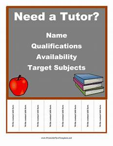 tutor flyer With math tutoring flyer template