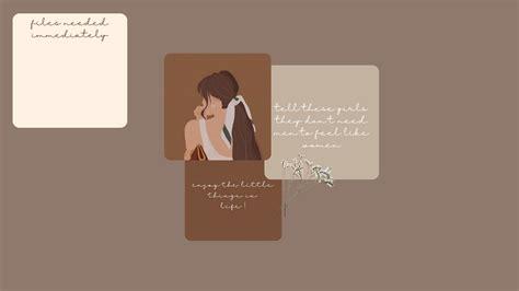 brown themed desktop wallpaper aesthetic