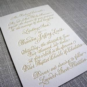 calligraphy letterpress wedding invitation scotti cline With handwritten wedding invitations cost