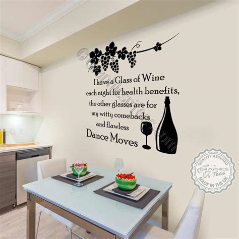 wall stickers for kitchen design kitchen dining room wall sticker i drink wine quote 8887