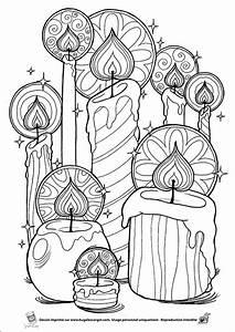 Bougie De Noel Dessin : coloriage bougies sur ~ Voncanada.com Idées de Décoration